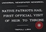 Image of crown prince Tripoli Libya, 1932, second 6 stock footage video 65675037697