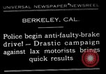 Image of anti faulty brake drive Berkeley California USA, 1932, second 1 stock footage video 65675037698