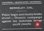 Image of anti faulty brake drive Berkeley California USA, 1932, second 2 stock footage video 65675037698