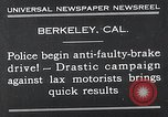 Image of anti faulty brake drive Berkeley California USA, 1932, second 3 stock footage video 65675037698