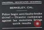 Image of anti faulty brake drive Berkeley California USA, 1932, second 4 stock footage video 65675037698