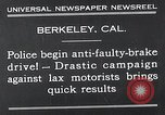 Image of anti faulty brake drive Berkeley California USA, 1932, second 7 stock footage video 65675037698