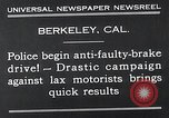 Image of anti faulty brake drive Berkeley California USA, 1932, second 9 stock footage video 65675037698