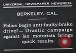 Image of anti faulty brake drive Berkeley California USA, 1932, second 11 stock footage video 65675037698