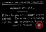 Image of anti faulty brake drive Berkeley California USA, 1932, second 12 stock footage video 65675037698