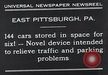 Image of vertical car park East Pittsburgh Pennsylvania USA, 1932, second 3 stock footage video 65675037699