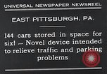 Image of vertical car park East Pittsburgh Pennsylvania USA, 1932, second 4 stock footage video 65675037699