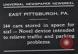 Image of vertical car park East Pittsburgh Pennsylvania USA, 1932, second 5 stock footage video 65675037699