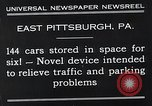 Image of vertical car park East Pittsburgh Pennsylvania USA, 1932, second 6 stock footage video 65675037699