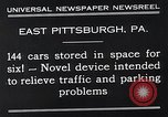 Image of vertical car park East Pittsburgh Pennsylvania USA, 1932, second 7 stock footage video 65675037699