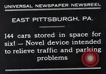Image of vertical car park East Pittsburgh Pennsylvania USA, 1932, second 9 stock footage video 65675037699
