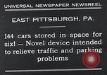 Image of vertical car park East Pittsburgh Pennsylvania USA, 1932, second 10 stock footage video 65675037699