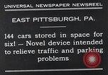 Image of vertical car park East Pittsburgh Pennsylvania USA, 1932, second 11 stock footage video 65675037699