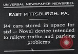 Image of vertical car park East Pittsburgh Pennsylvania USA, 1932, second 12 stock footage video 65675037699