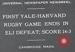 Image of Rugby match Cambridge Massachusetts USA, 1932, second 1 stock footage video 65675037701