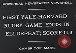Image of Rugby match Cambridge Massachusetts USA, 1932, second 4 stock footage video 65675037701