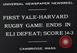 Image of Rugby match Cambridge Massachusetts USA, 1932, second 6 stock footage video 65675037701