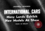 Image of International Automobile Show New York United States USA, 1966, second 1 stock footage video 65675037707