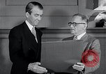 Image of Jimmy Stewart receiving Citation of Honor Washington DC USA, 1954, second 6 stock footage video 65675037712