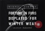 Image of National Fur Show New York United States USA, 1936, second 1 stock footage video 65675037729