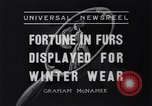 Image of National Fur Show New York United States USA, 1936, second 7 stock footage video 65675037729