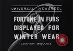 Image of National Fur Show New York United States USA, 1936, second 8 stock footage video 65675037729