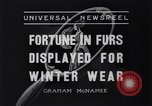 Image of National Fur Show New York United States USA, 1936, second 9 stock footage video 65675037729