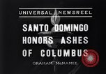 Image of Columbus's ashes Santo Domingo Dominican Republic, 1936, second 9 stock footage video 65675037731