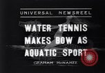 Image of water tennis Venice Beach Los Angeles California USA, 1936, second 1 stock footage video 65675037733