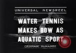 Image of water tennis Venice Beach Los Angeles California USA, 1936, second 2 stock footage video 65675037733