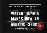 Image of water tennis Venice Beach Los Angeles California USA, 1936, second 3 stock footage video 65675037733