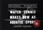 Image of water tennis Venice Beach Los Angeles California USA, 1936, second 8 stock footage video 65675037733