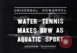 Image of water tennis Venice Beach Los Angeles California USA, 1936, second 9 stock footage video 65675037733