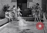 Image of water tennis Venice Beach Los Angeles California USA, 1936, second 11 stock footage video 65675037733