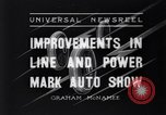 Image of Auto Show New York City USA, 1936, second 1 stock footage video 65675037734
