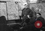 Image of Intelligence officer briefs Major General Charles Gerhardt & staff Germany, 1945, second 4 stock footage video 65675037782