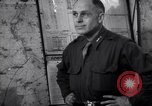 Image of Intelligence officer briefs Major General Charles Gerhardt & staff Germany, 1945, second 7 stock footage video 65675037782
