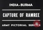 Image of Lieutenant General Wheeler Ramree Burma, 1945, second 4 stock footage video 65675037796