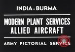 Image of Hindustan Aircraft Limited Bangalore India, 1942, second 6 stock footage video 65675037797