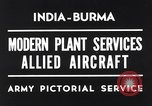 Image of Hindustan Aircraft Limited Bangalore India, 1942, second 7 stock footage video 65675037797