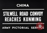 Image of First convoy over Ledo Road in World War II Kunming China, 1945, second 1 stock footage video 65675037798