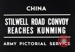 Image of First convoy over Ledo Road in World War II Kunming China, 1945, second 2 stock footage video 65675037798