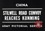 Image of First convoy over Ledo Road in World War II Kunming China, 1945, second 4 stock footage video 65675037798