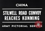 Image of First convoy over Ledo Road in World War II Kunming China, 1945, second 7 stock footage video 65675037798