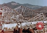 Image of wrecked steel frame Nagasaki Japan, 1946, second 5 stock footage video 65675037802