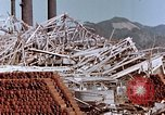 Image of wrecked steel frame Nagasaki Japan, 1946, second 5 stock footage video 65675037803