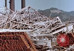 Image of wrecked steel frame Nagasaki Japan, 1946, second 6 stock footage video 65675037803