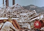Image of wrecked steel frame Nagasaki Japan, 1946, second 9 stock footage video 65675037803