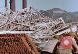Image of wrecked steel frame Nagasaki Japan, 1946, second 11 stock footage video 65675037803