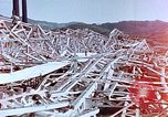 Image of steel frame building destroyed Nagasaki Japan, 1946, second 2 stock footage video 65675037804